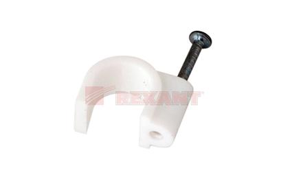 Крепеж кабеля Rexant 07-4014 Крепеж кабеля круглый 14мм (50 штук)