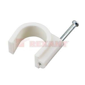 Крепеж кабеля Rexant 07-4020 Крепеж кабеля круглый 20мм (50 штук)