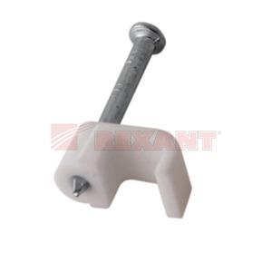 Крепеж кабеля Rexant 07-4204 Крепеж кабеля плоский 4мм х 2мм (50 штук)
