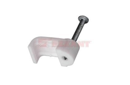 Крепеж кабеля Rexant 07-4209 Крепеж кабеля плоский 10мм х 3мм (50 штук)