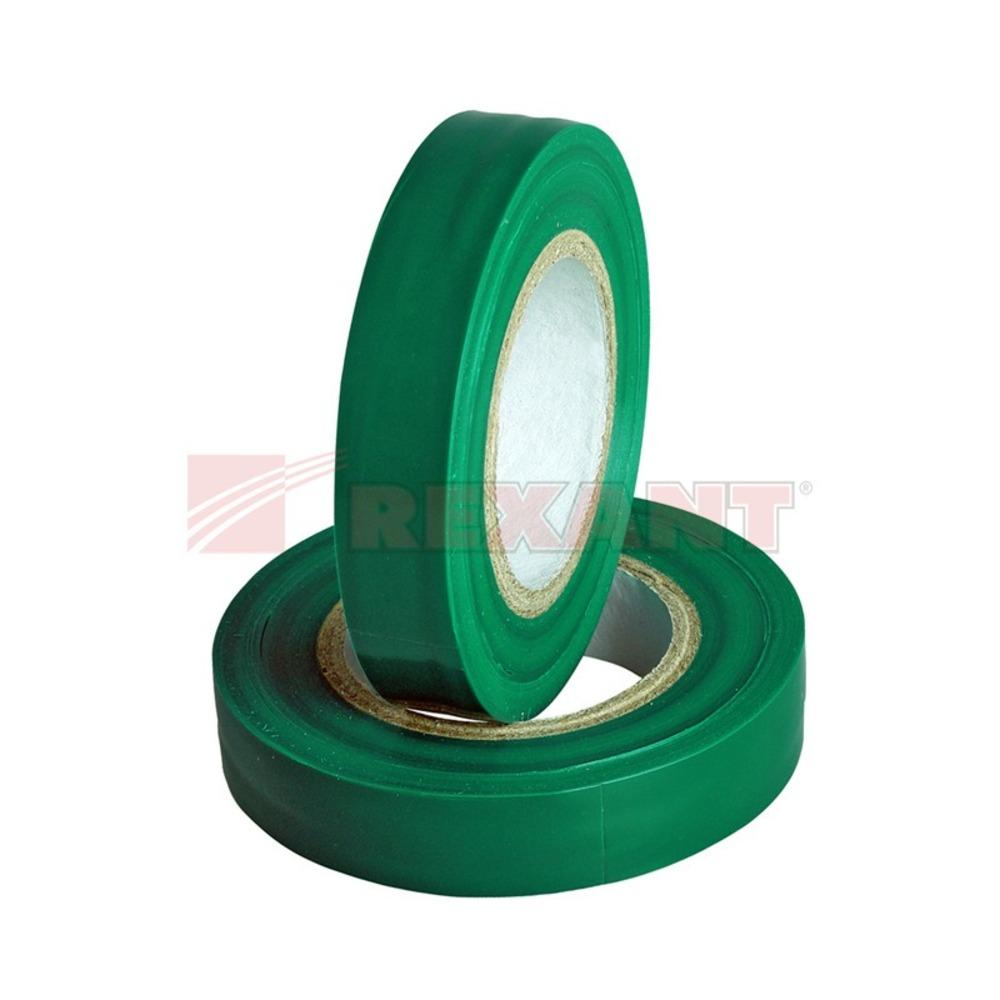 Изолента Rexant 09-2103 Изолента 15мм х 25м зеленая (1 штука)