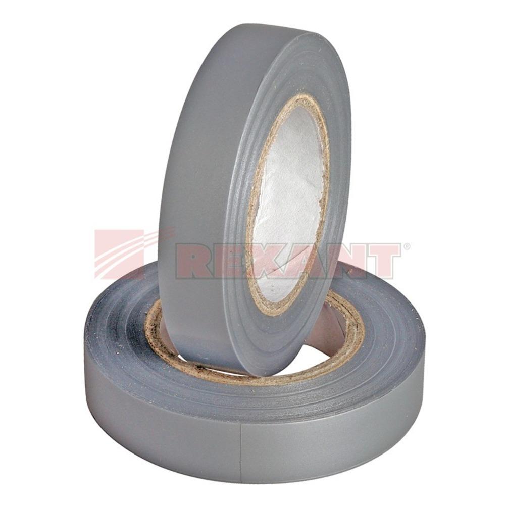 Изолента Rexant 09-2108 Изолента 15мм х 25м серая (1 штука)