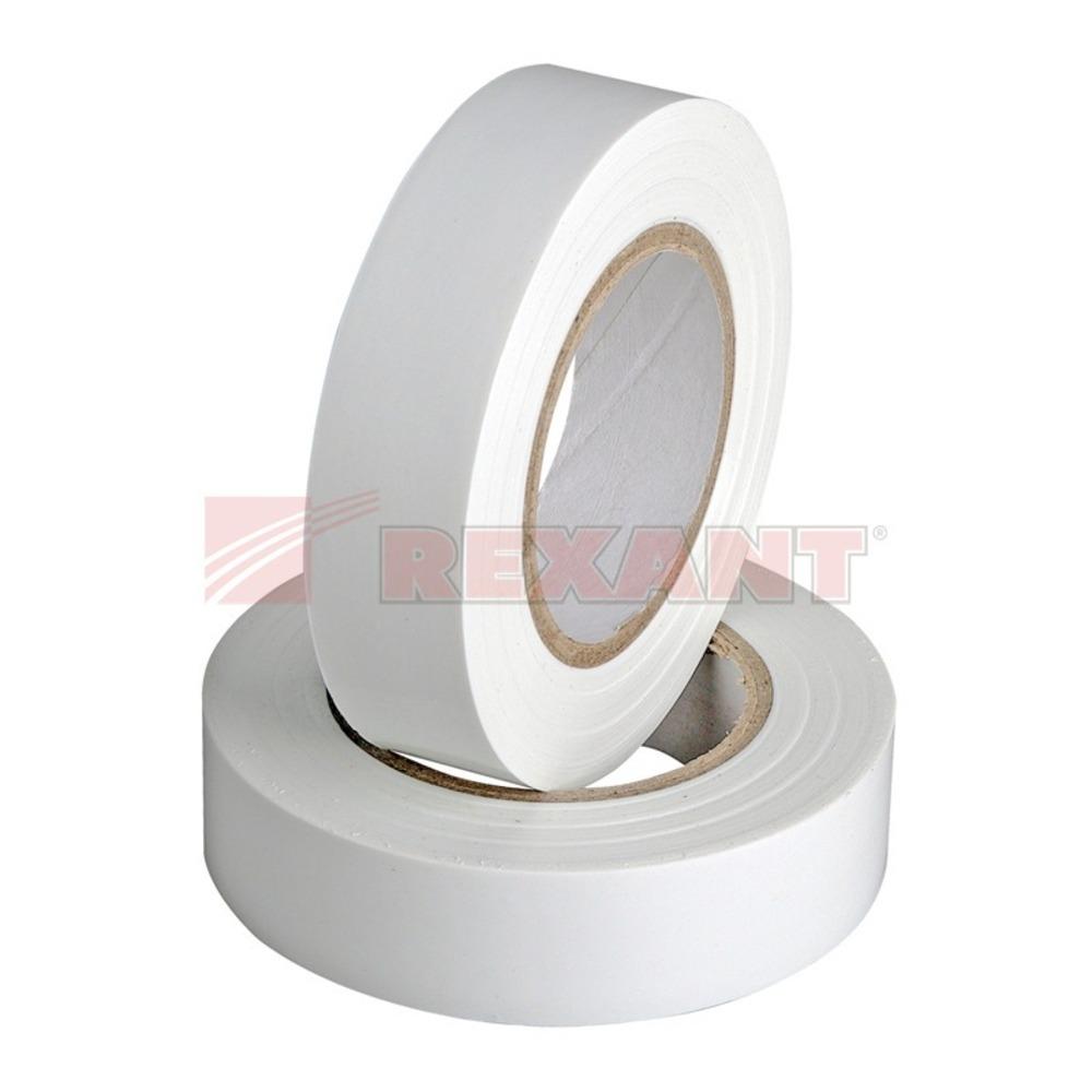 Изолента Rexant 09-2201 Изолента 19мм х 25м белая (1 штука)