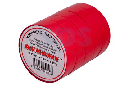 Изолента Rexant 09-2204 Изолента 19мм х 25м красная (1 штука)