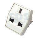 Сетевой переходник Rexant 11-1011 КВАДРАТ белый (1 штука)