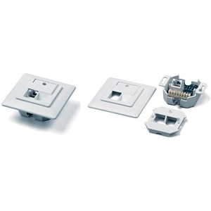 Розетка RJ 45 и телефон Hyperline SB-GTF1-8P8C-C5E-WH