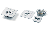 Розетка RJ 45 и телефон Hyperline SB-GTF2-8P8C-C5E-WH