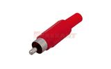 Разъем RCA (Папа) Rexant 14-0403 Штекер RCA Красный (1 штука)