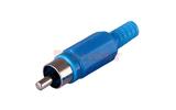 Разъем RCA (Папа) Rexant 14-0405 Штекер RCA Синий (1 штука)