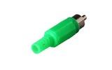 Разъем RCA (Папа) Rexant 14-0406 Штекер RCA Зеленый (1 штука)
