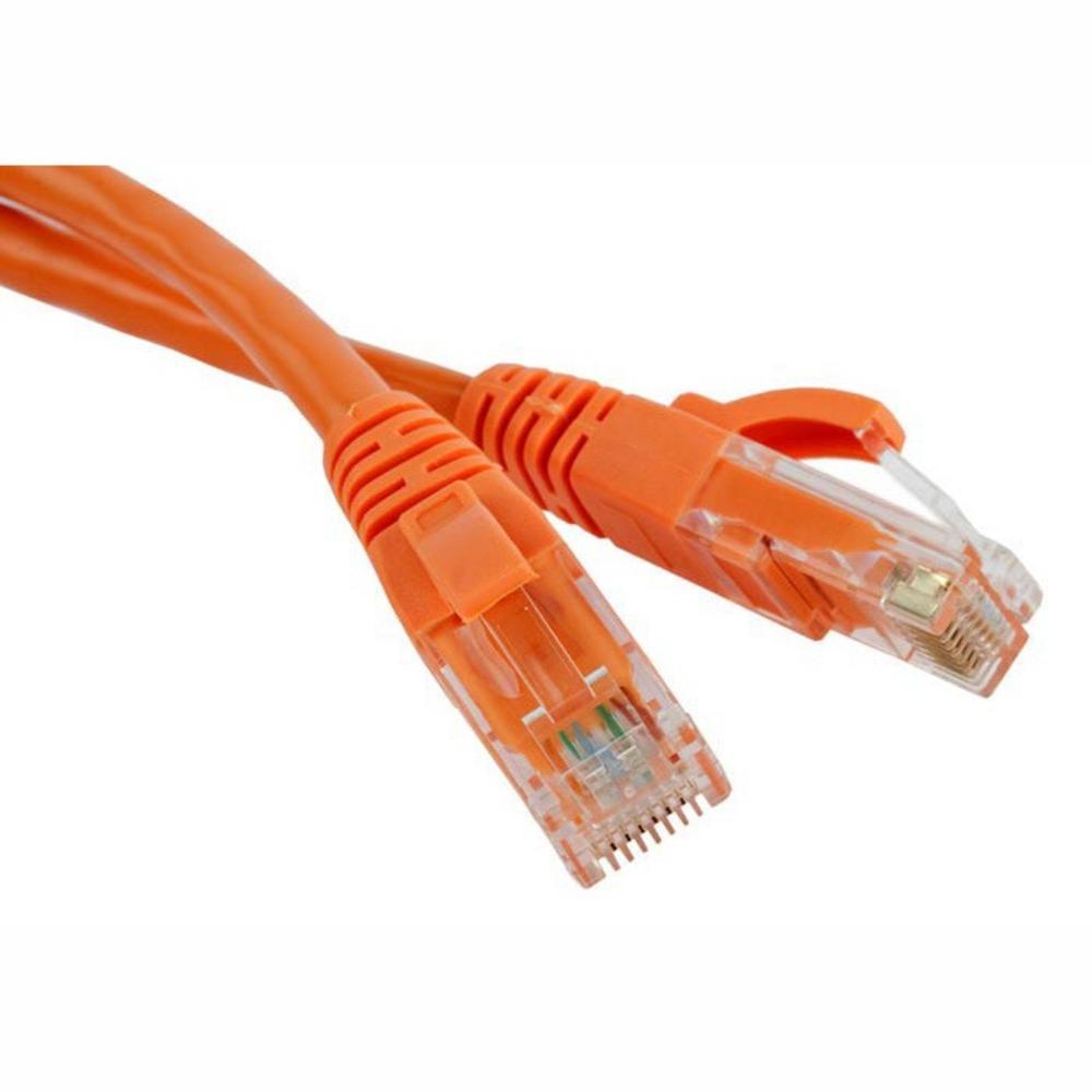 Кабель витая пара патч-корд Hyperline PC-LPM-UTP-RJ45-RJ45-C5e-2M-OR 2.0m