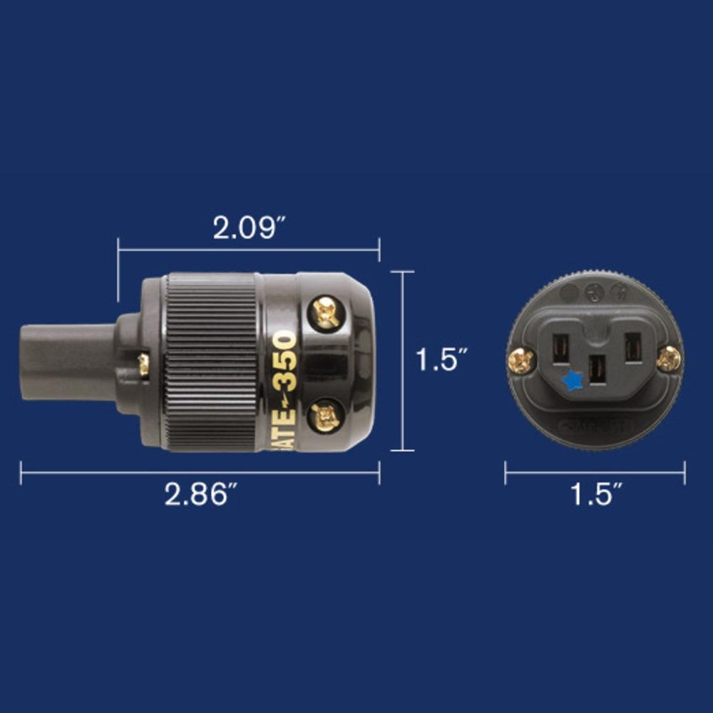 Комплект силовых разъемов Wattgate 390i AU / 350i AU Black Set