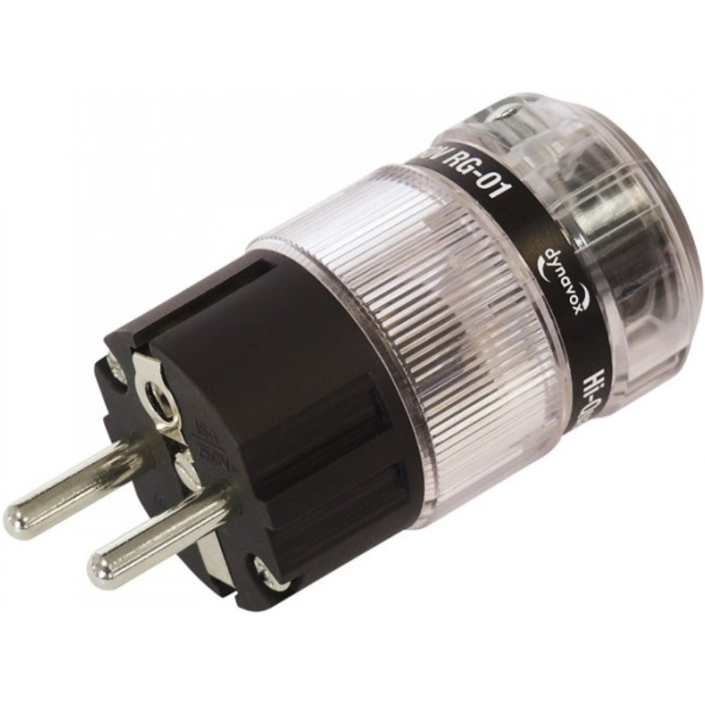 Разъем EU Schuko DYNAVOX Euro Plug RG-01 Rhodium (206228)