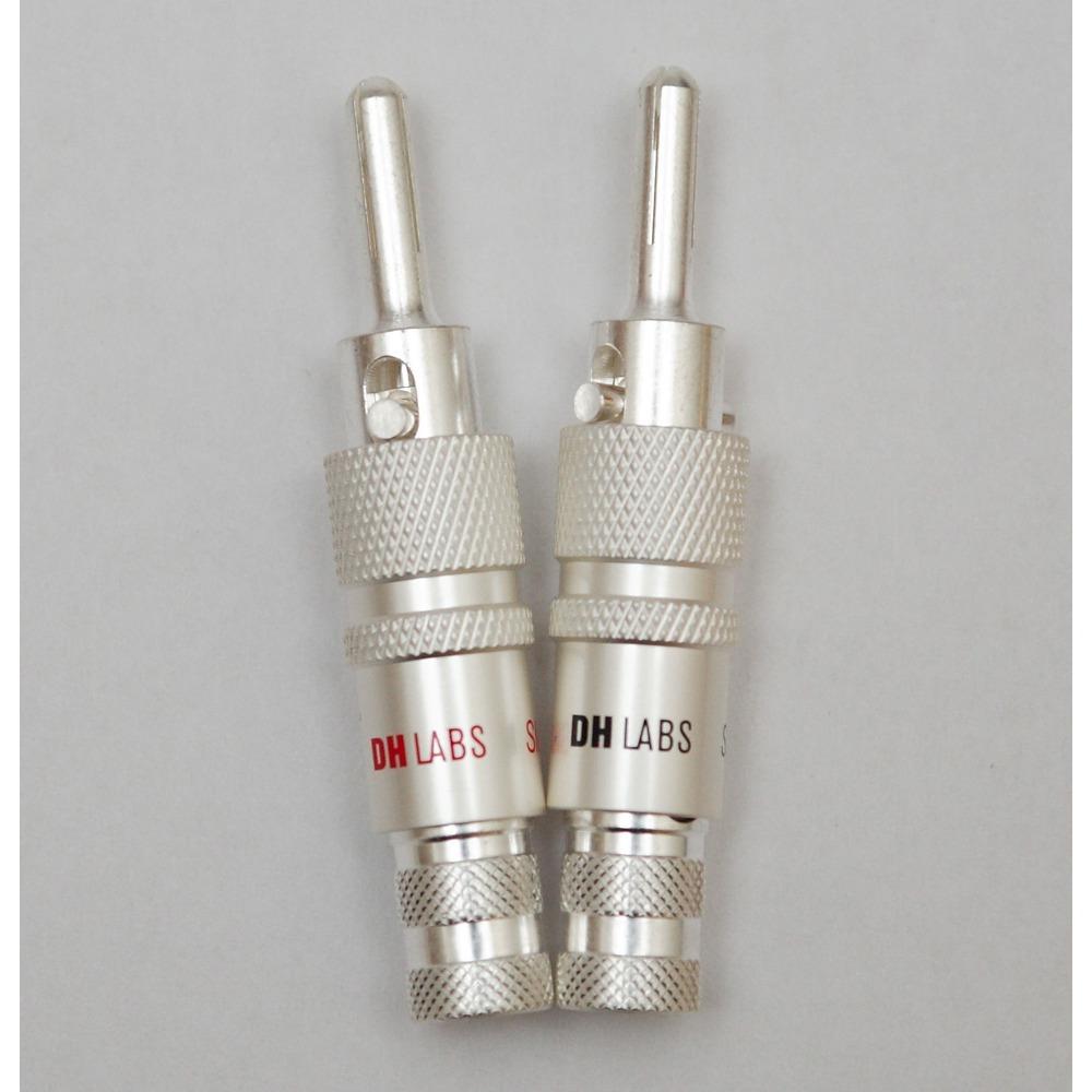 Разъем Банана DH Labs Banana Locking-1 Plug Silver