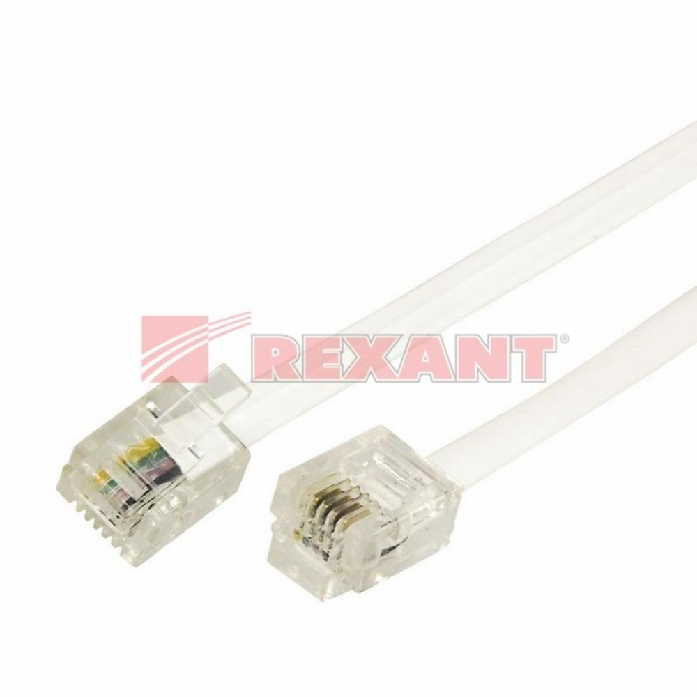 Кабель телефонный патч-корд Rexant 18-3021 белый (1 штука) 2.0m