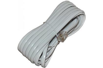 Кабель телефонный патч-корд Rexant 18-3051 белый (1 штука) 5.0m