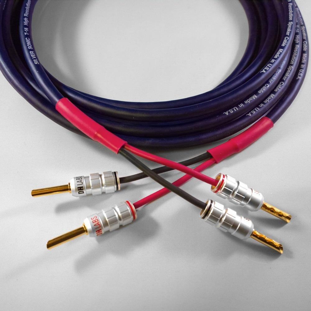 Акустический кабель Single-Wire Banana - Banana DH Labs T-14 Banana Z-Plug Gold Single Wire 2.5m