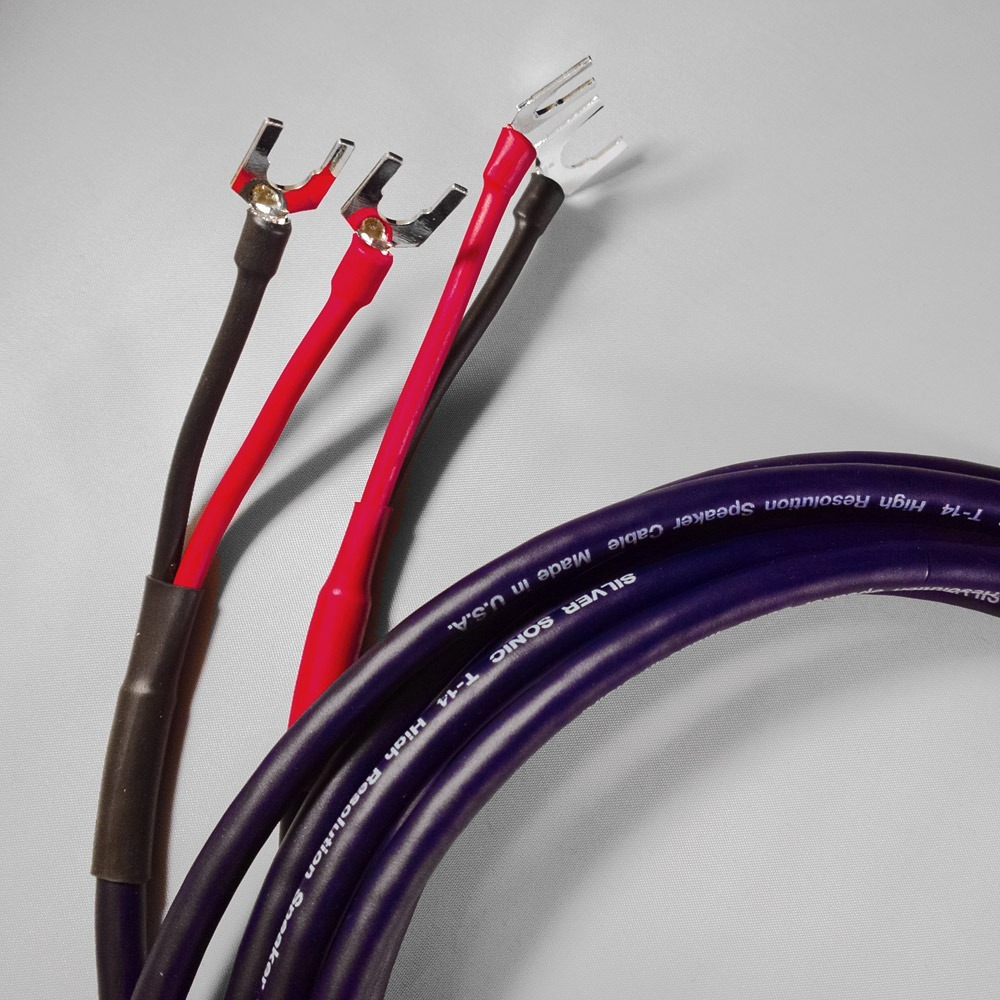 Акустический кабель Single-Wire Spade - Spade DH Labs T-14 Spade SP-10 Silver Single Wire 2.5m