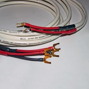 Акустический кабель Bi-Wire Spade - Spade DH Labs Odyssey mkII Spade SP-10 Gold Bi-Wire 2.0m