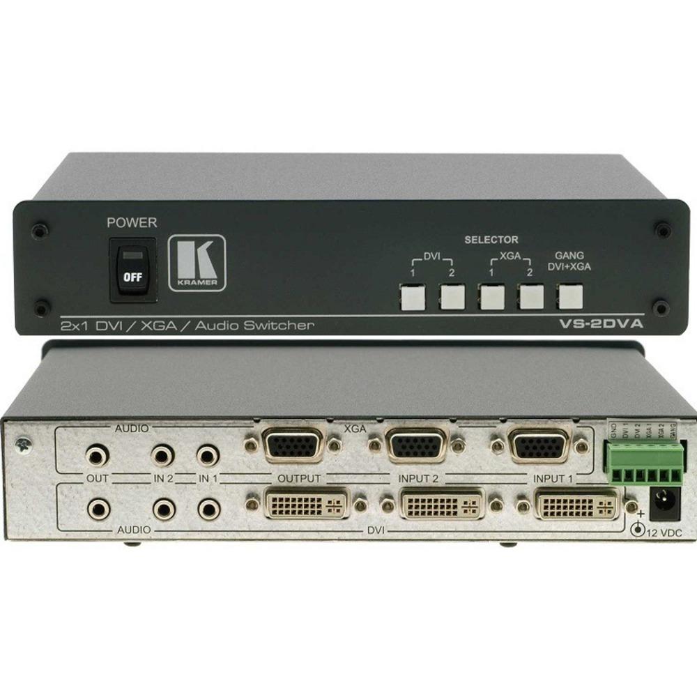 Универсальный коммутатор 2х1 сигналов DVI Kramer VS-2DVA