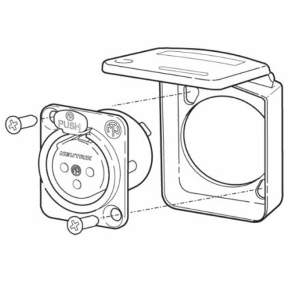 Аксессуар для разъема Neutrik SCDX-9 White