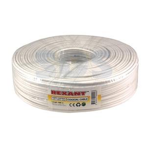 Кабель видеонаблюдения Rexant 01-4001 белый (ККСВ) (100 метров)