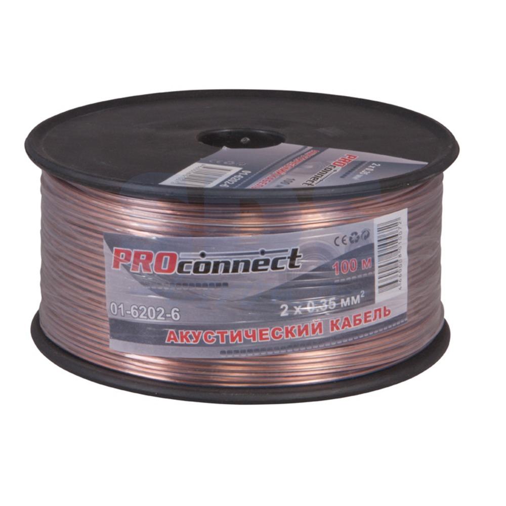 Кабель акустический на катушке PROconnect 01-6202-6 2x0.35 мм2 BLUELINE (100 метров)